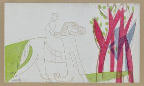 "HAP (Helmut Andreas Paul) Grieshaber. ""Sveina"". 1964"
