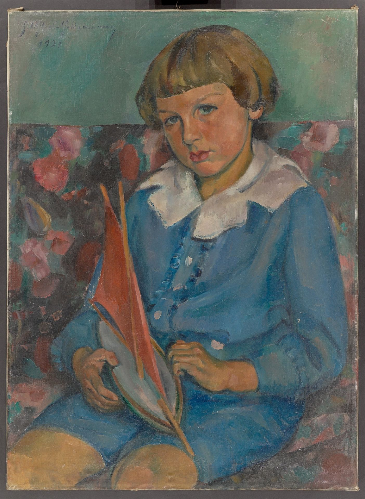 Friedrich Ahlers-Hestermann. Boy with sailing ship. 1921 - Image 2 of 4