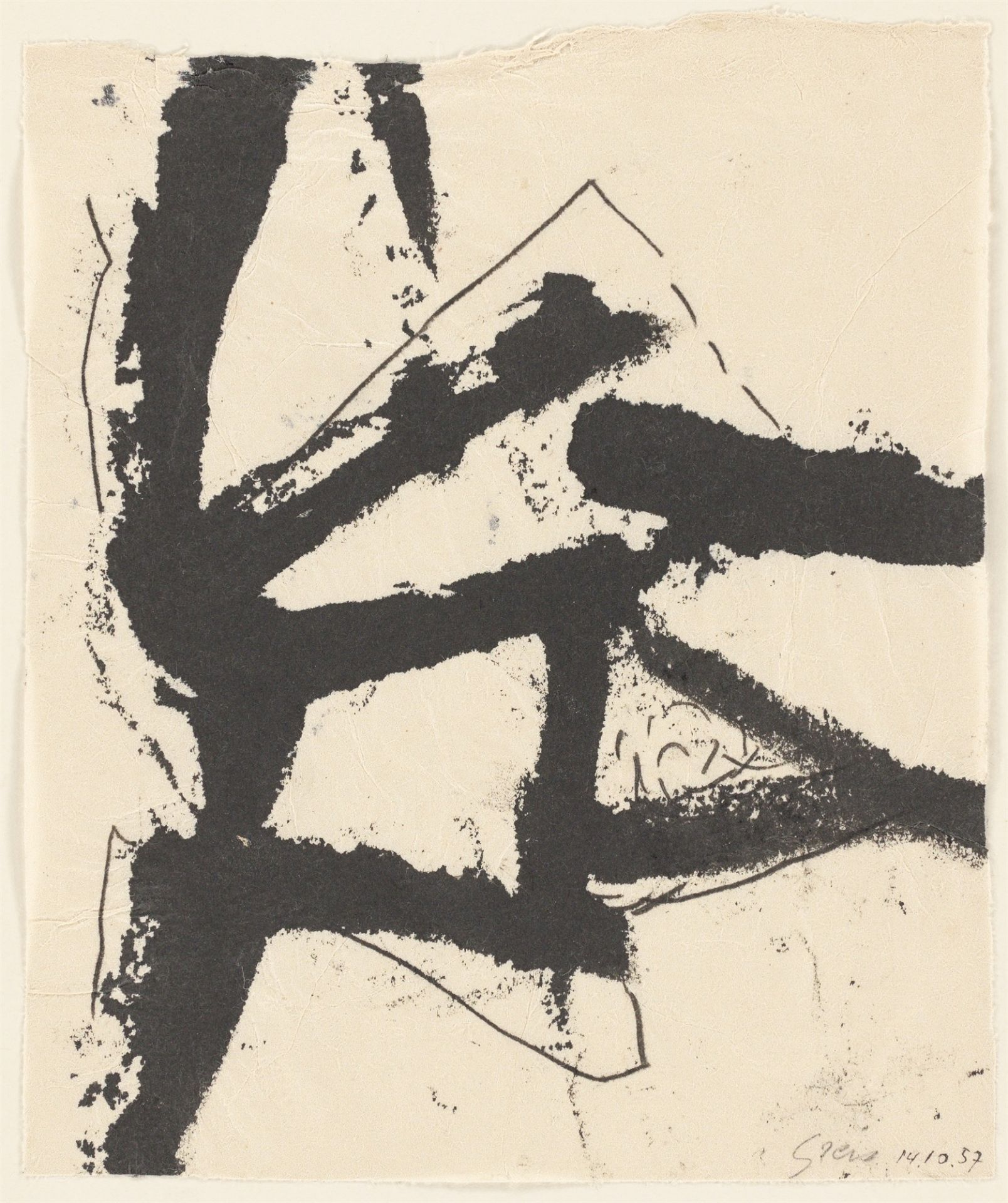 Otto Greis. Untitled. 1957 - Image 2 of 2