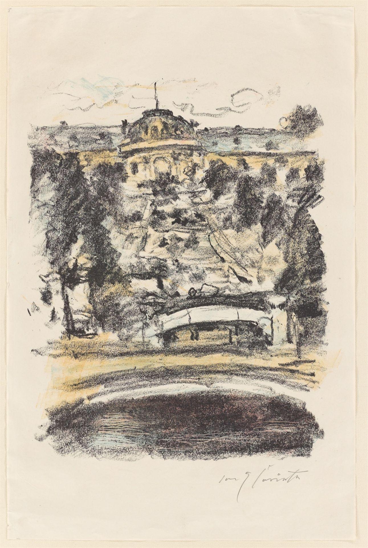 "Lovis Corinth. ""Sanssouci"". 1922 - Image 2 of 3"