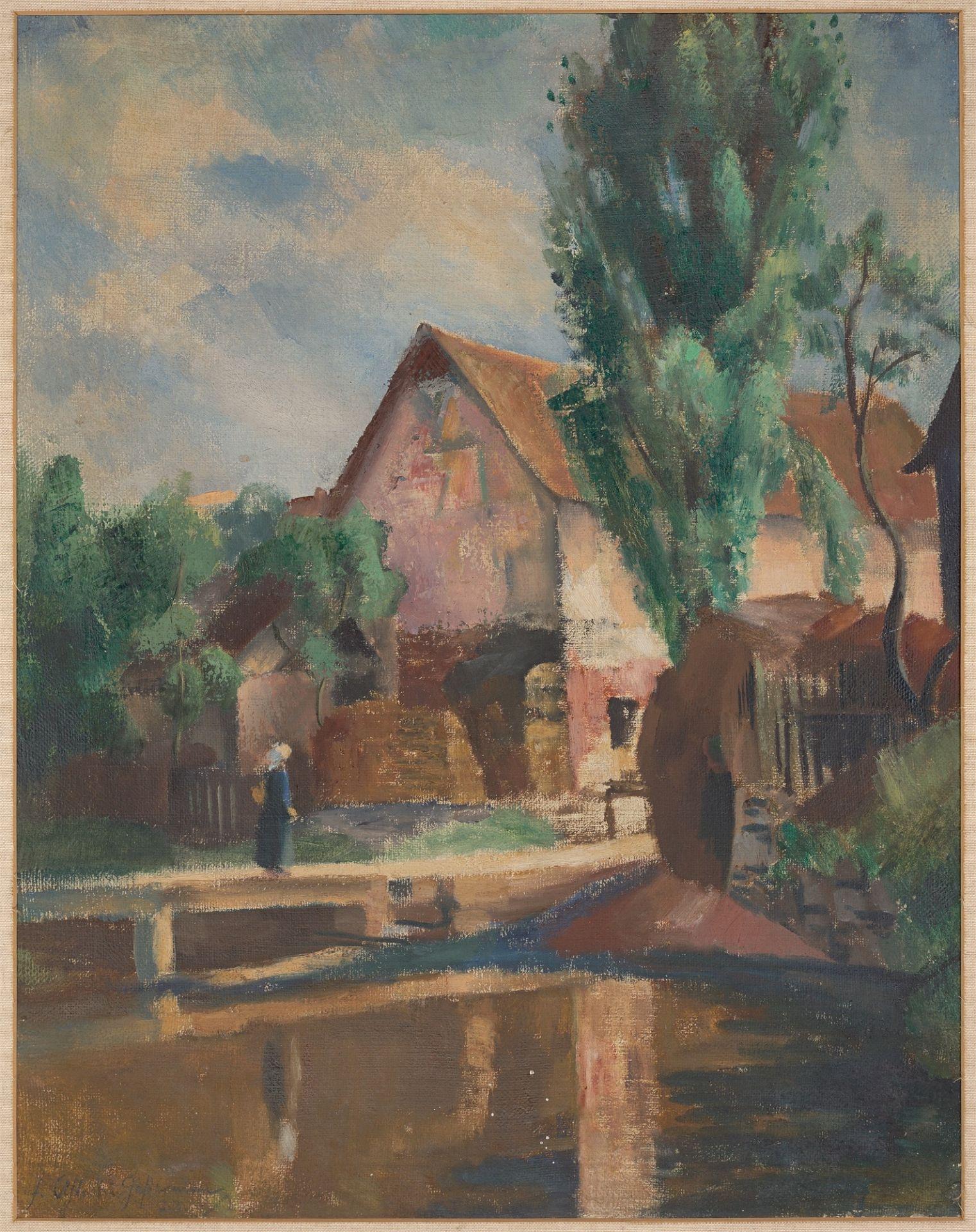 Friedrich Ahlers-Hestermann. Wesselhöft pond in Nienstedten. 1923 - Image 2 of 4