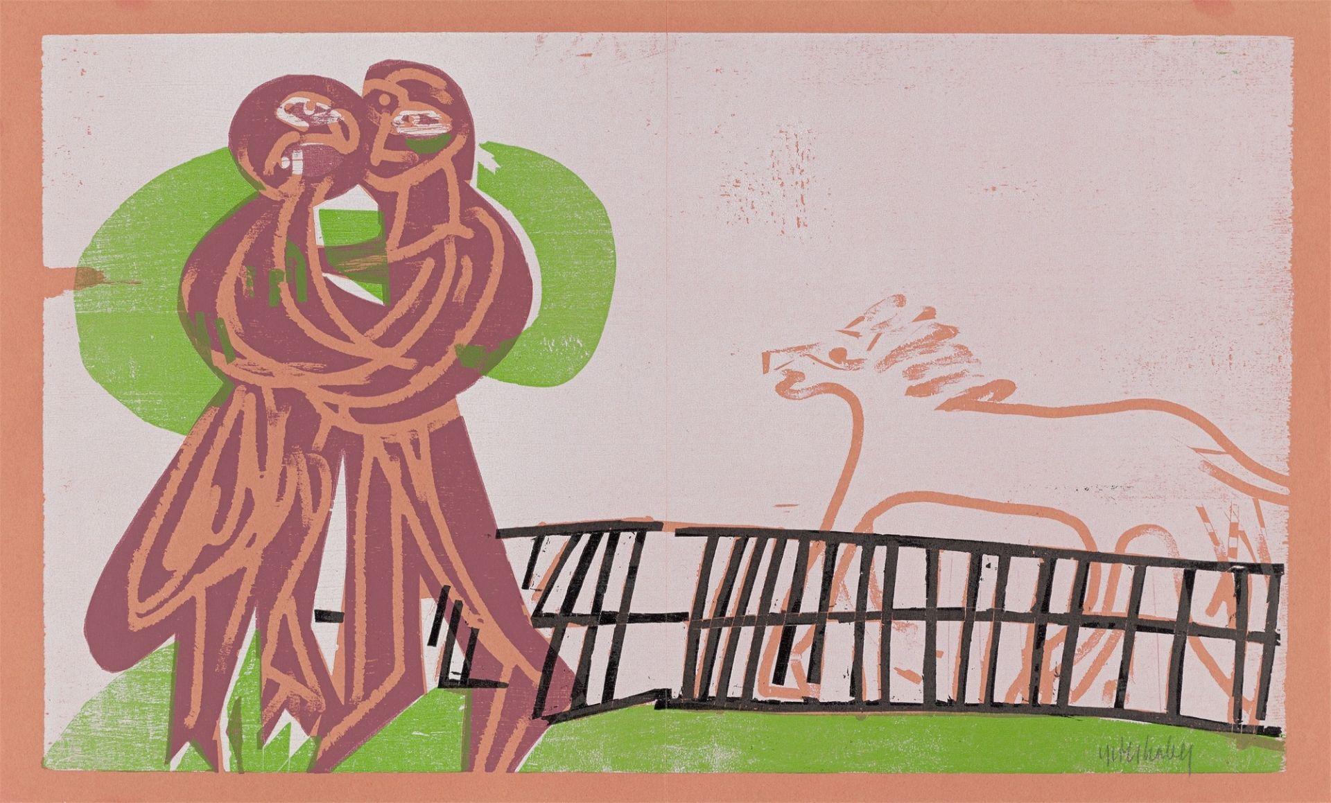 """HAP (Helmut Andreas Paul) Grieshaber. """"Heimkehr"""". 1964"""