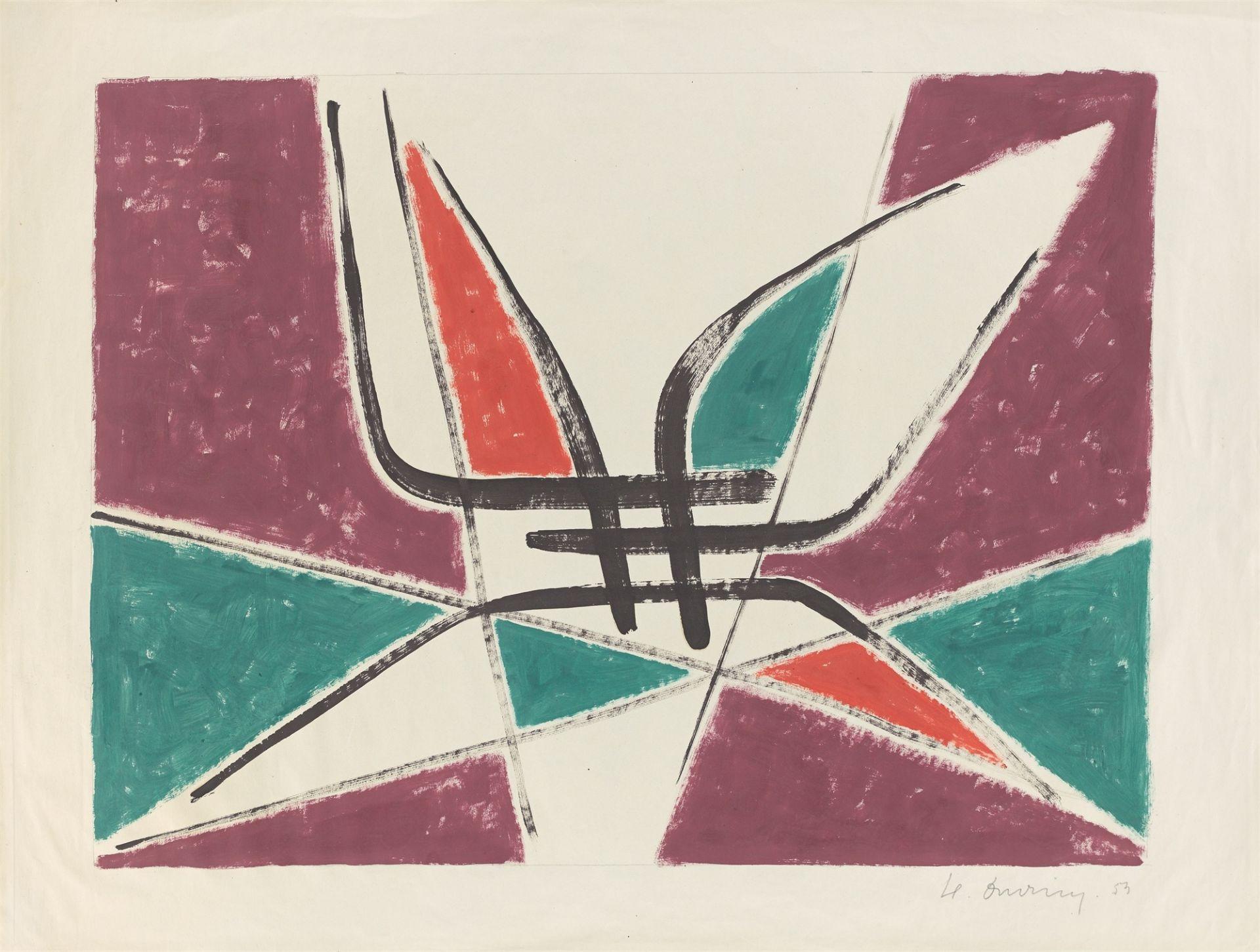 Heinrich Maria Davringhausen. Composition. 1953