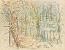 Ivo Hauptmann. Forest landscape. 1947