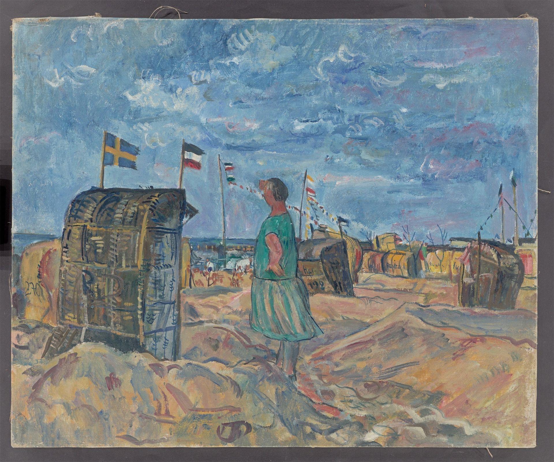 "Erich Büttner. ""Strand in Graal"". 1928 - Image 2 of 4"