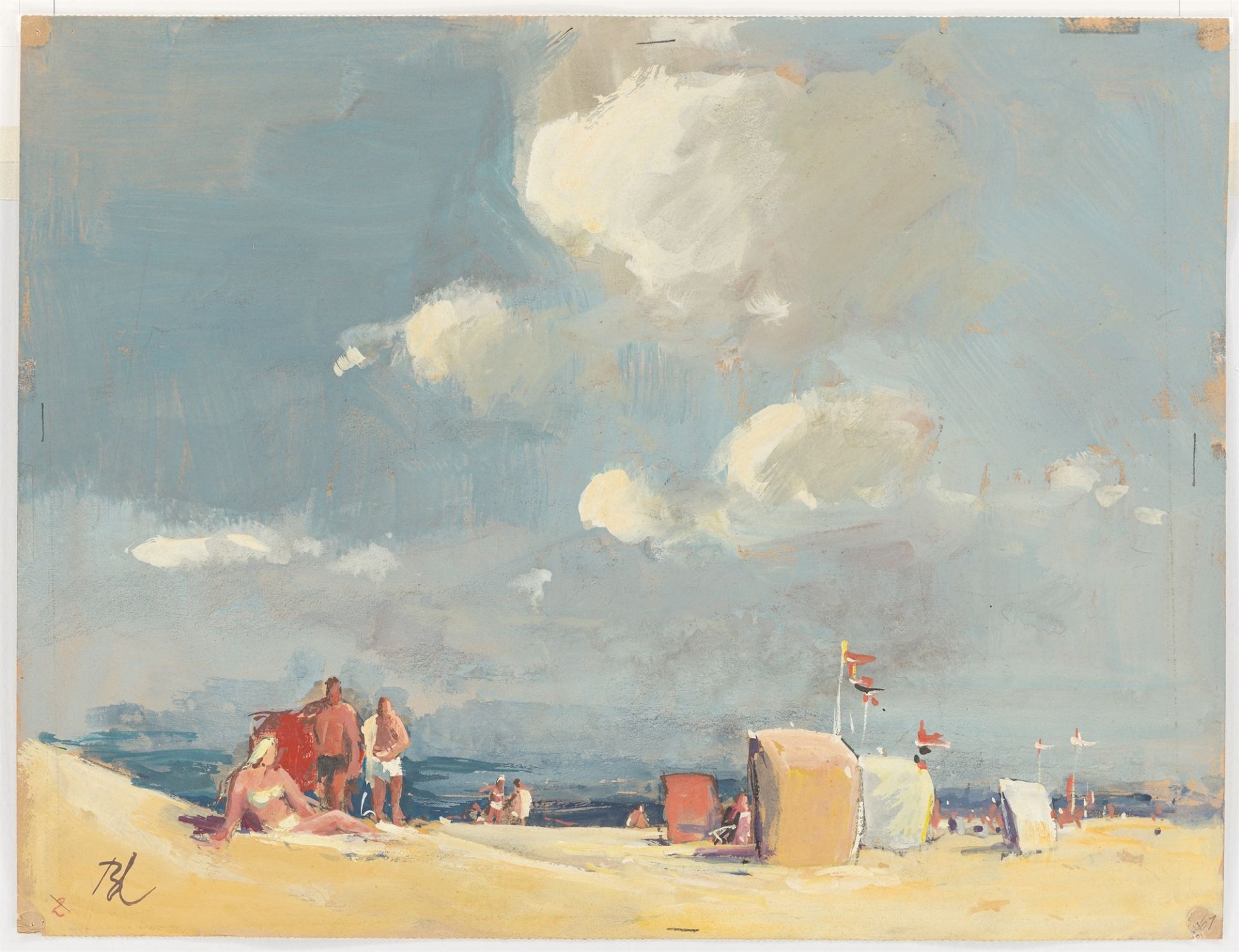 Günther Blechschmidt. On the beach. After 1945 - Image 2 of 3