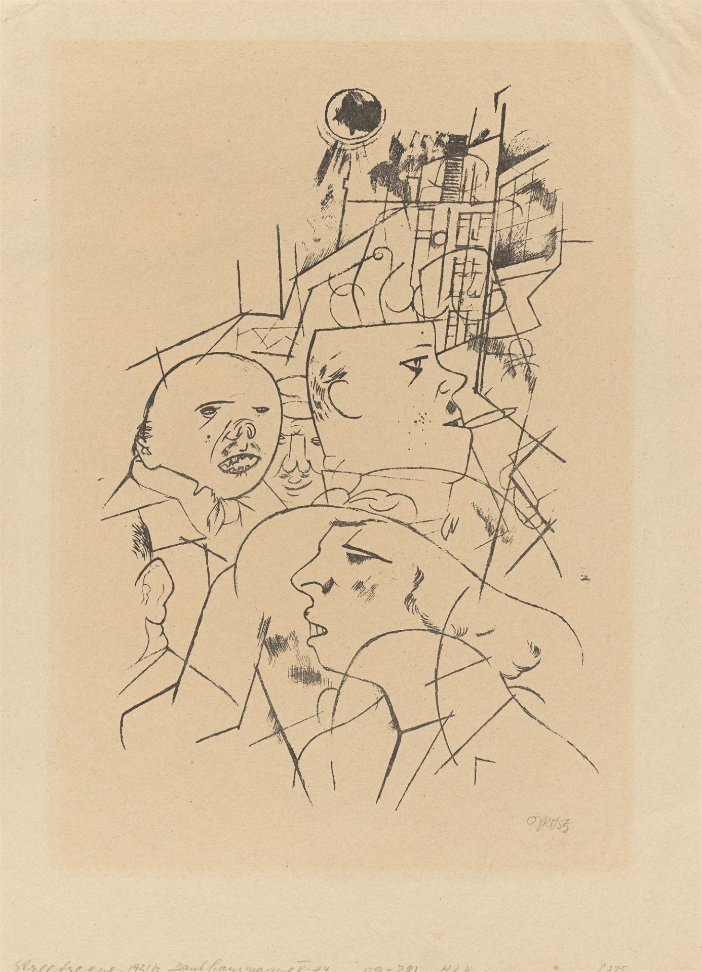 """George Grosz. """"Strassenszene"""". 1919/1920"""