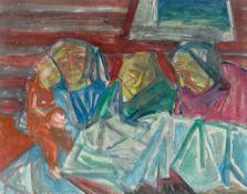 Bruno Krauskopf. Three old women with child. Circa 1950