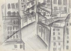 Walter Dexel. View of houses. 1917