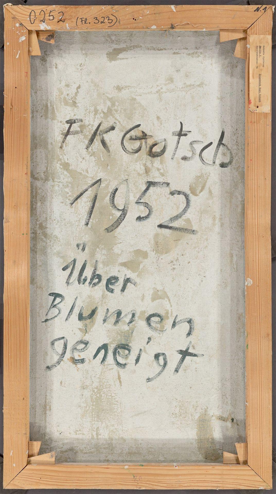 """Friedrich Karl Gotsch. """"Über Blumen geneigt"""". 1952 - Image 3 of 4"""