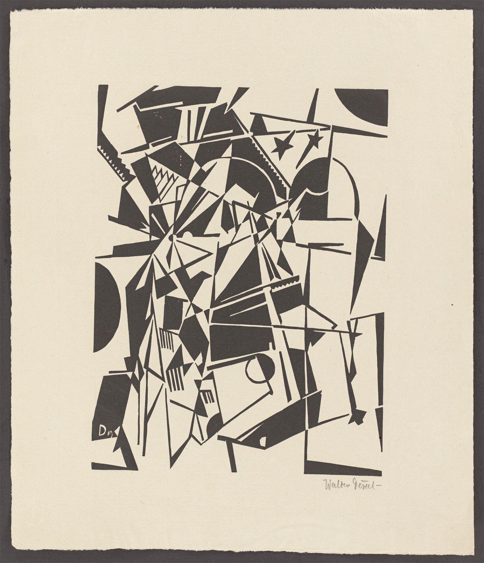 """Walter Dexel. """"Sternenbrücke (Abstrakte Komposition)"""". 1919/21 - Image 2 of 3"""