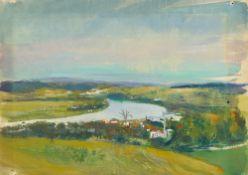 Josef Dobrowsky. River landscape. 1948