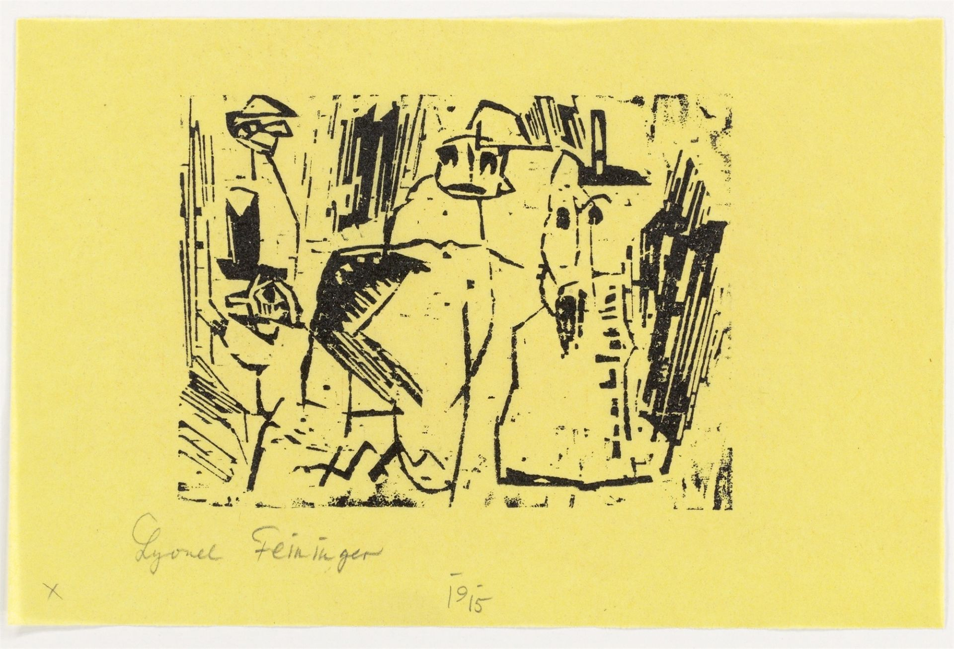 """Lyonel Feininger. """"Gespenster"""". 1919 - Image 2 of 2"""