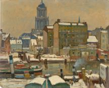 Hans Hartig. Berlin in the Winter. Circa 1918