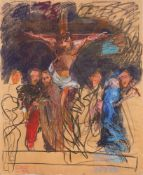 Johannes Grützke. Crucifixion scene. 1986