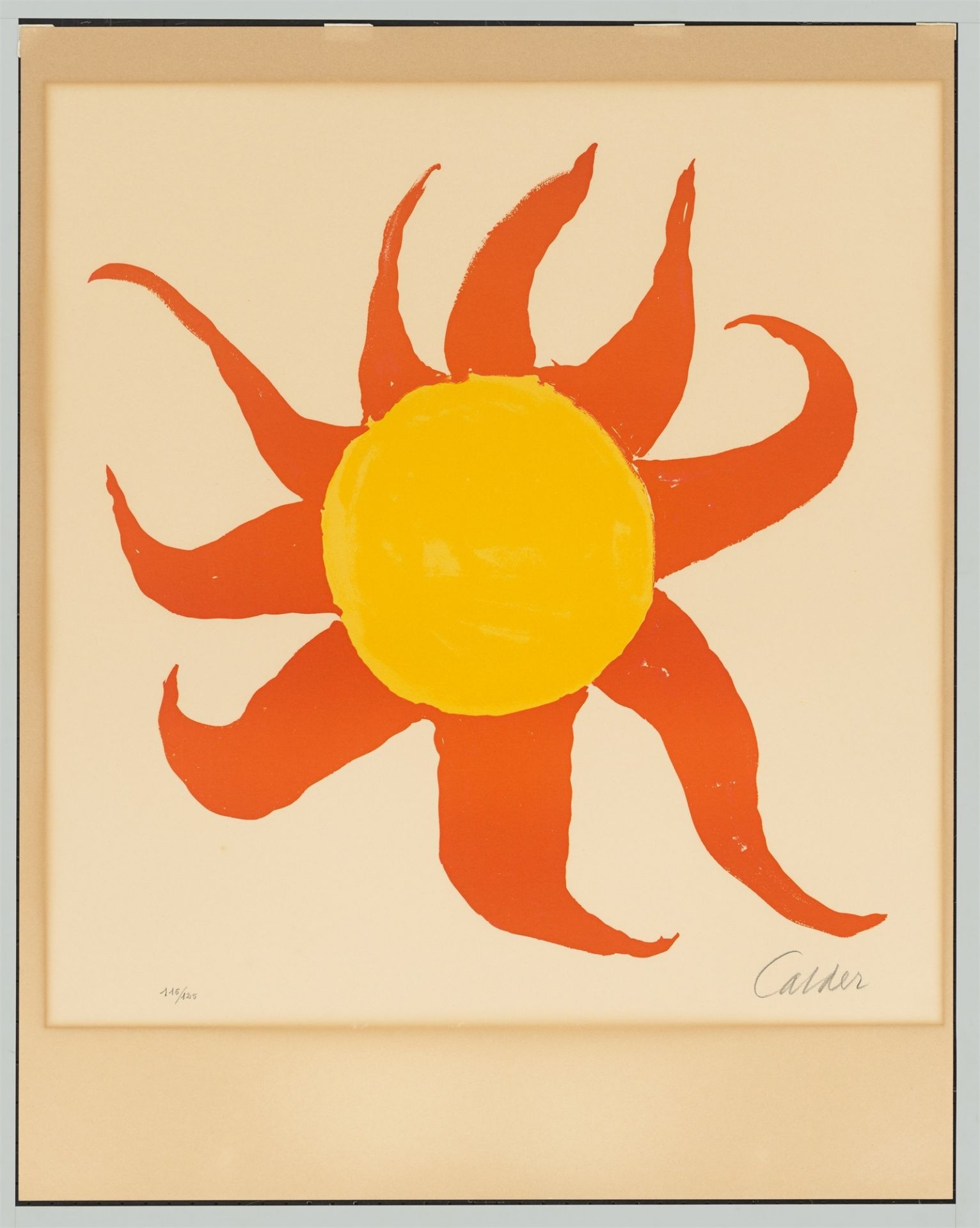 Alexander Calder. Red Sun. 1970 - Image 3 of 4