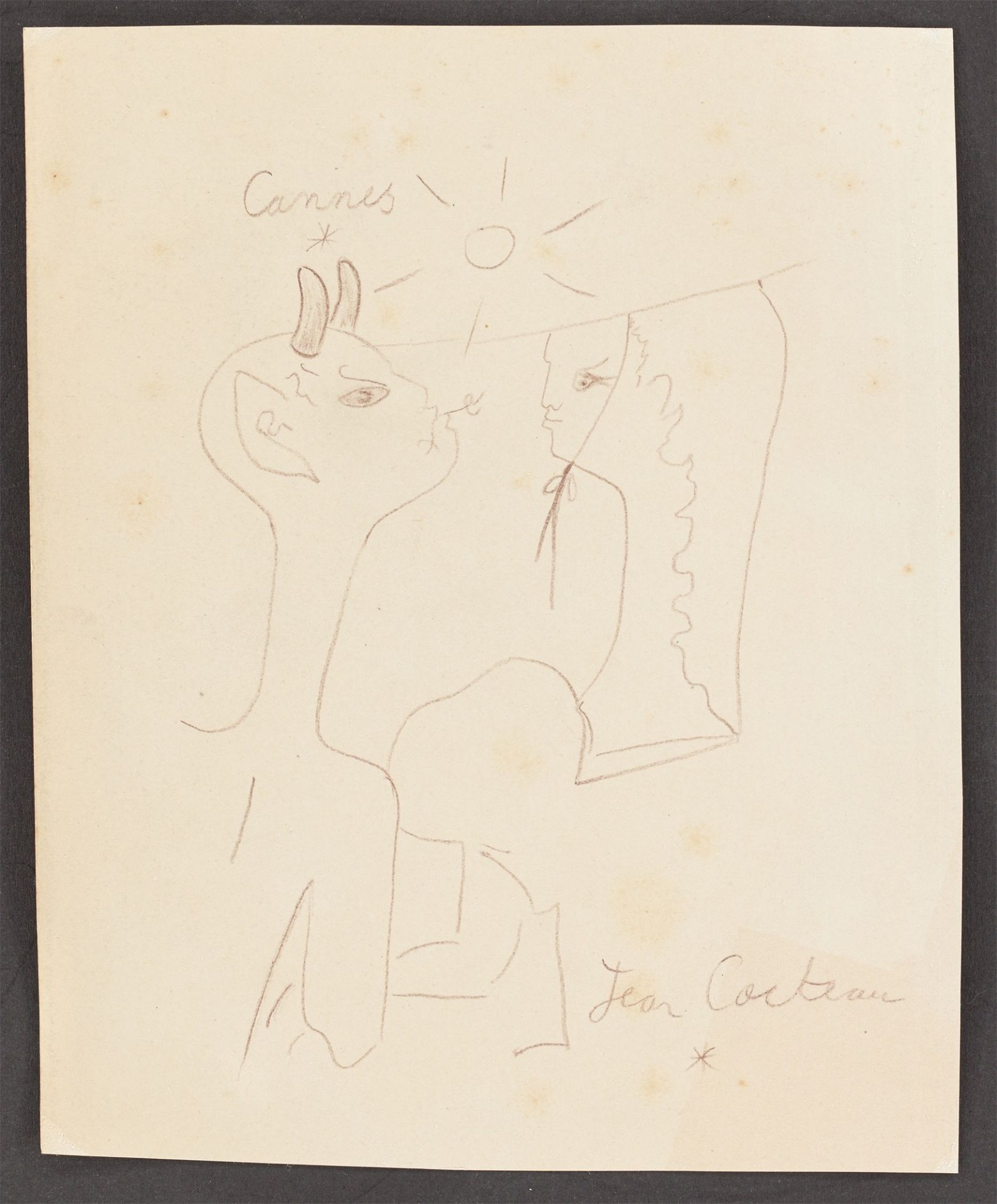 Jean Cocteau. Faun and girl. - Image 2 of 3