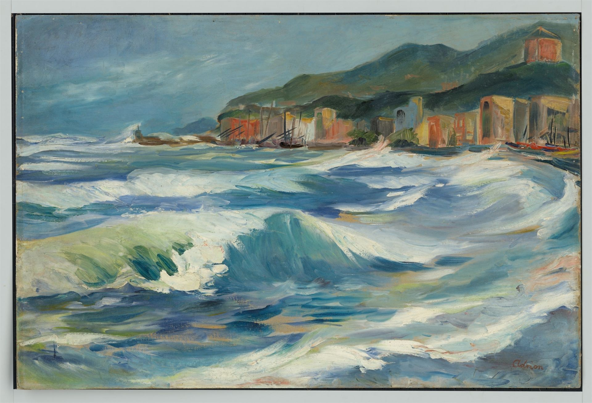 Lucien Adrion. Coast area / Brakers. - Image 6 of 8