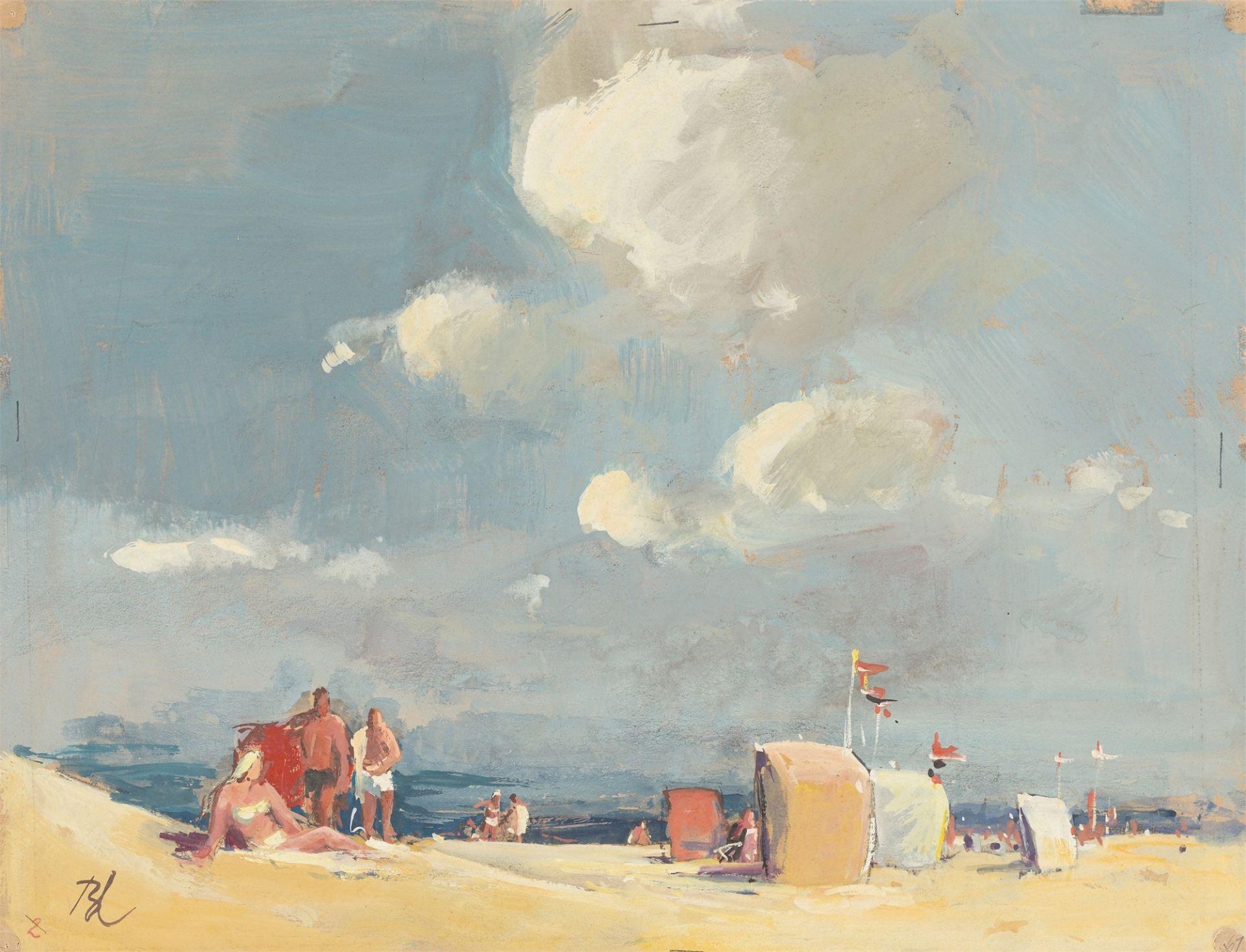 Günther Blechschmidt. On the beach. After 1945