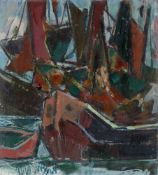 Willy Robert Huth. Ships at the harbour. 1967