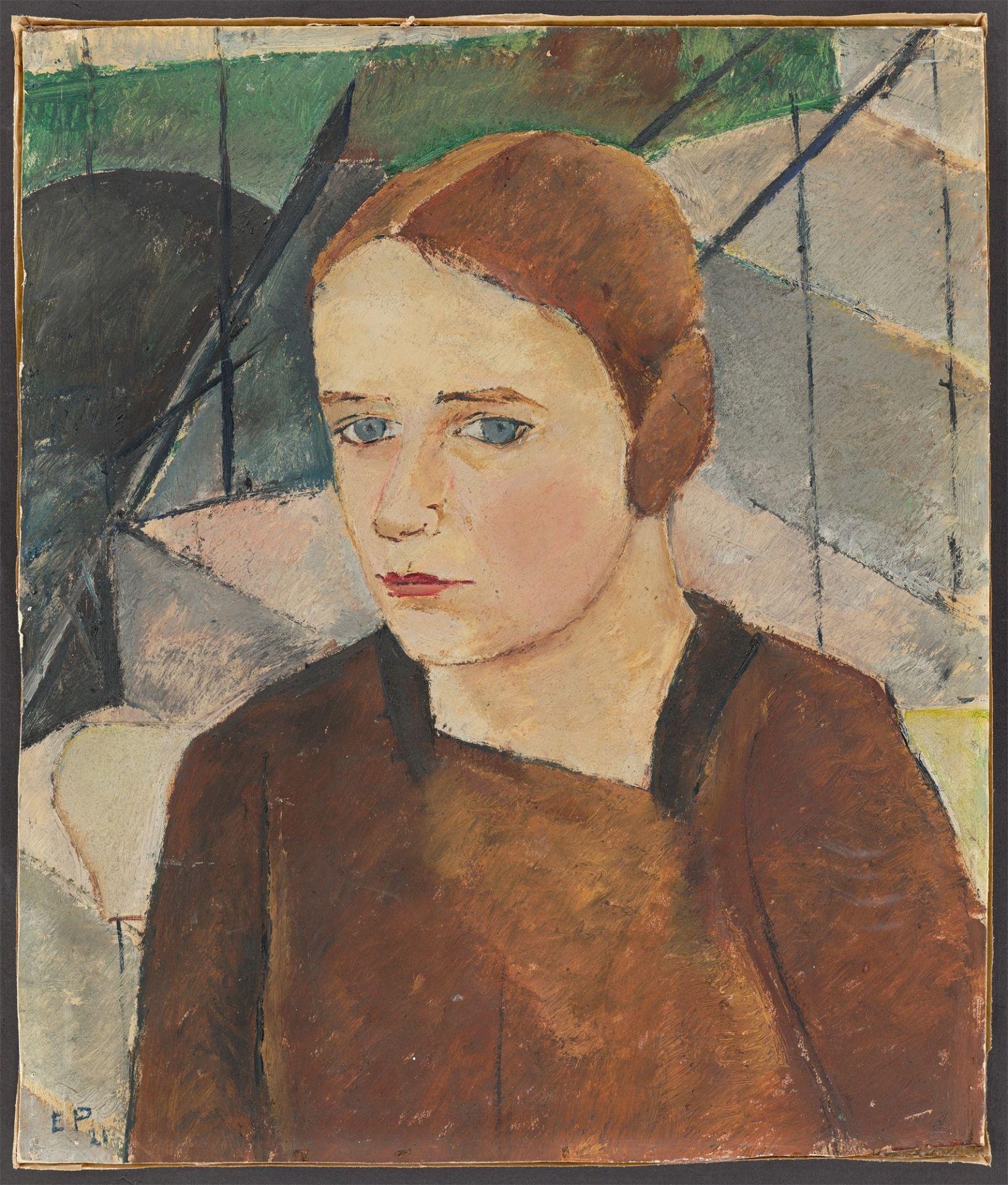 """Gertrud Elisabeth Ebert-Püttmann. """"Mädchenbildnis"""". 1921 - Image 2 of 4"""