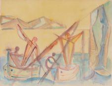 Werner Gilles. In the boat. 1957