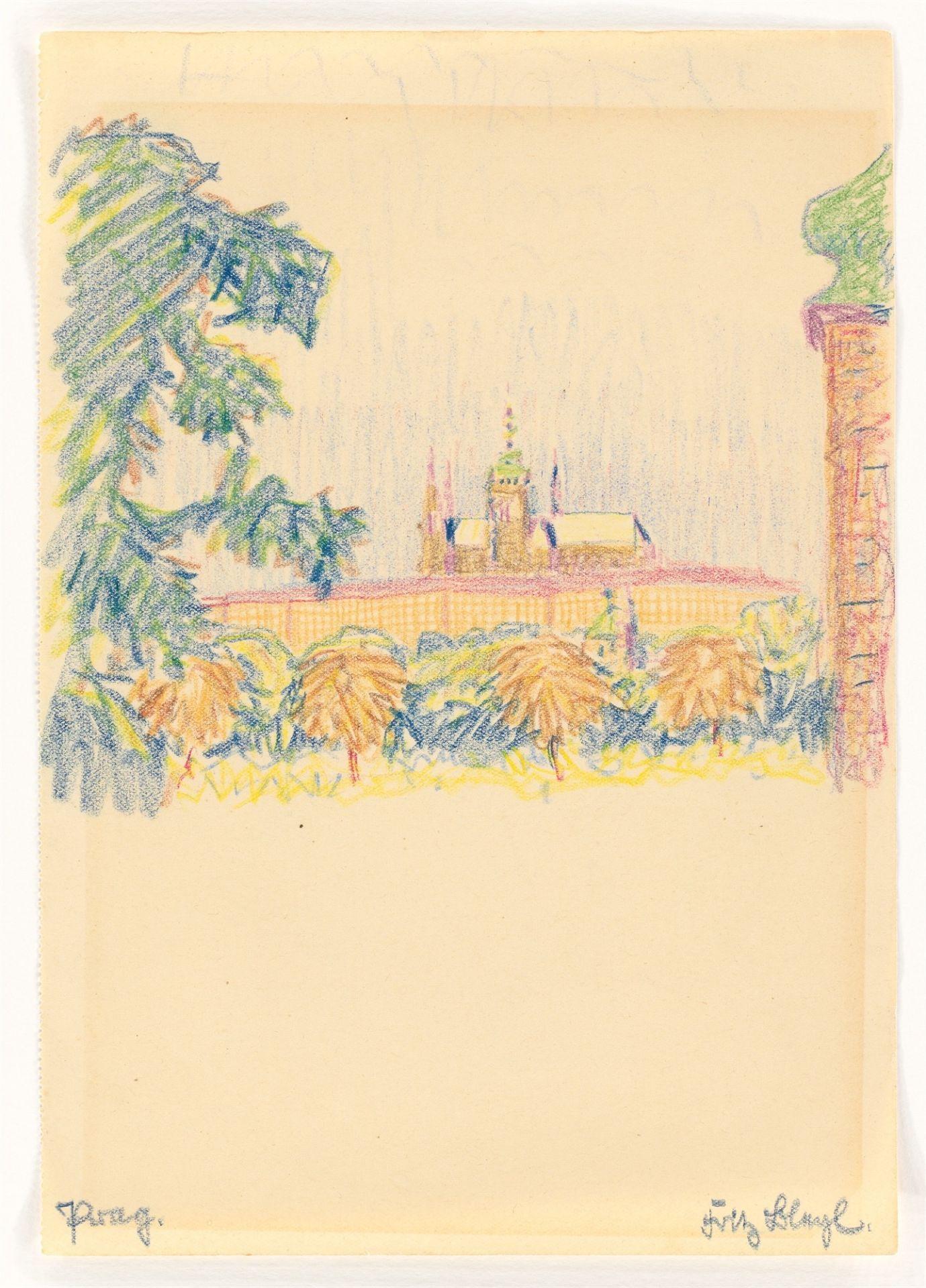 "Fritz Bleyl. ""Prag."" (View of the Hradčany Castle) / ""Prag."" (Palace and park) / ""Prag."" (Wal…. 1930 - Image 5 of 10"