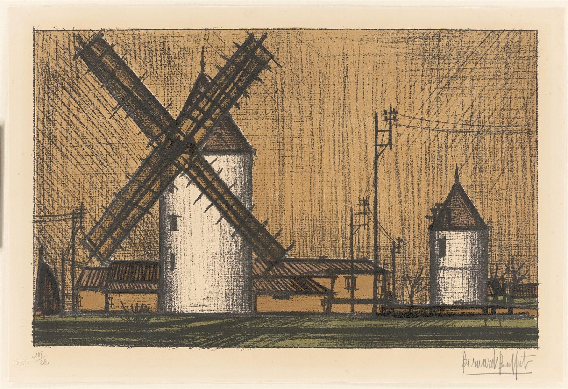 "Bernard Buffet. ""Les moulins"". 1953 - Image 2 of 3"