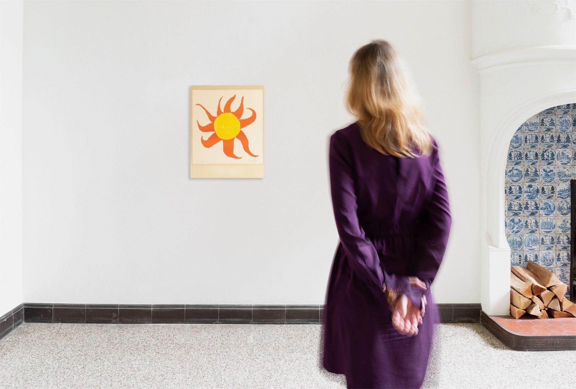 Alexander Calder. Red Sun. 1970 - Image 4 of 4