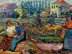 Franz M. Jansen. At the harvest. Circa 1910