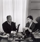 Willy Maywald. Monsieur Dior et Madame Bricard - Le Choix des Cravates. Circa 1950
