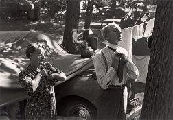 Leonard McCombe. Camping in Iowa. 1946