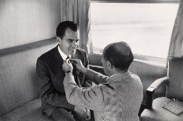 Alfred Eisenstaedt. LIFE photographer Alfred Eisenstaedt adjusting Republican presidential ca…. 1960