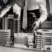 Brian Griffin. The Big Tie, Broadgate City of London. 1987
