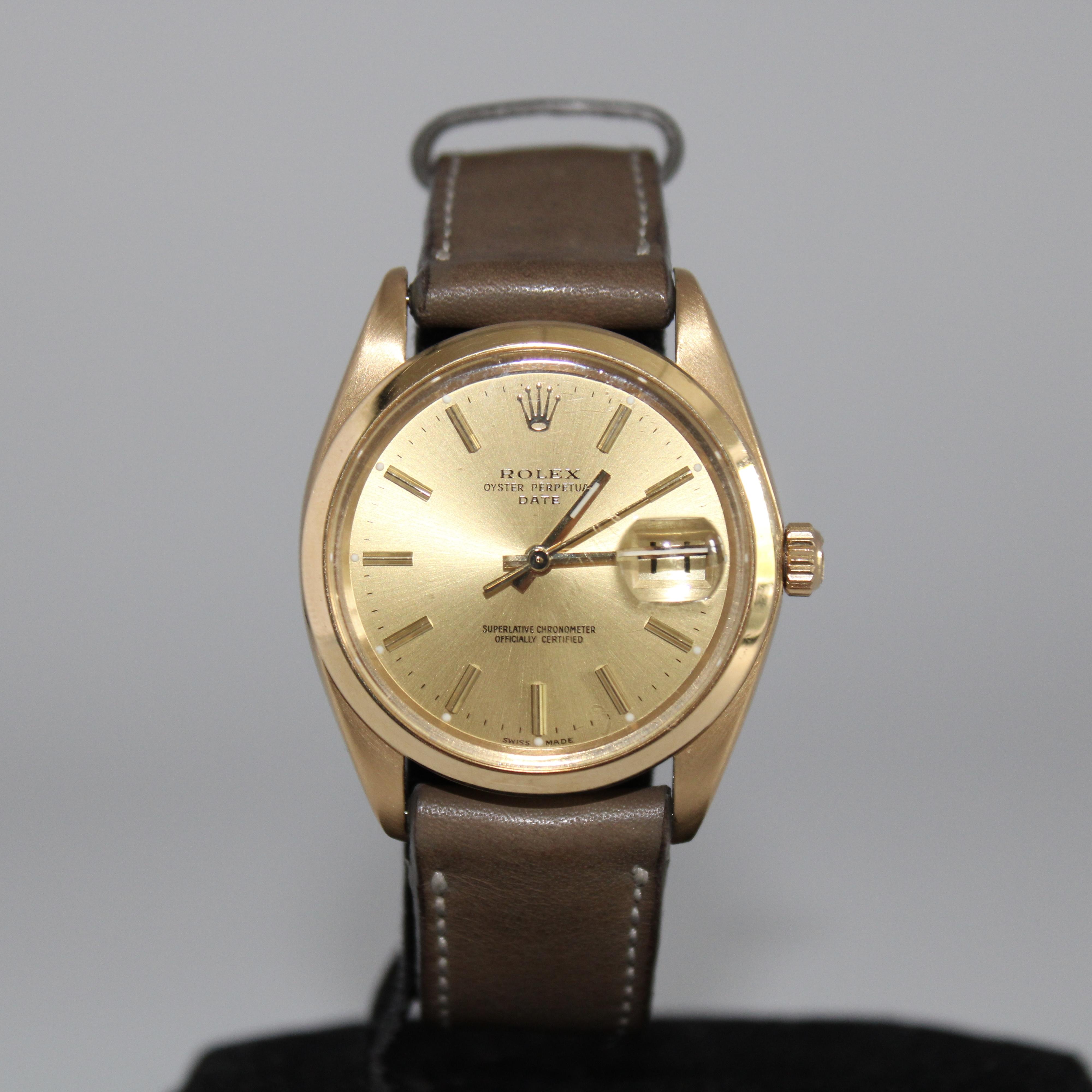 Rolex Oyster Date 18ct Ref 1500