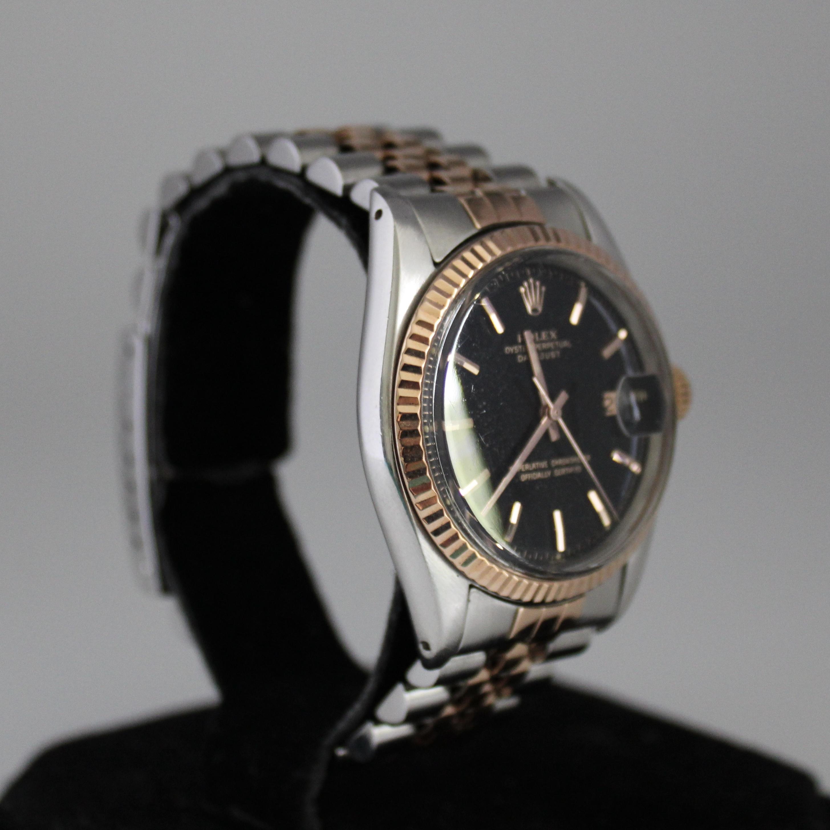 Rolex Datejust ref 1601 Steel & Pink Gold - Image 5 of 8