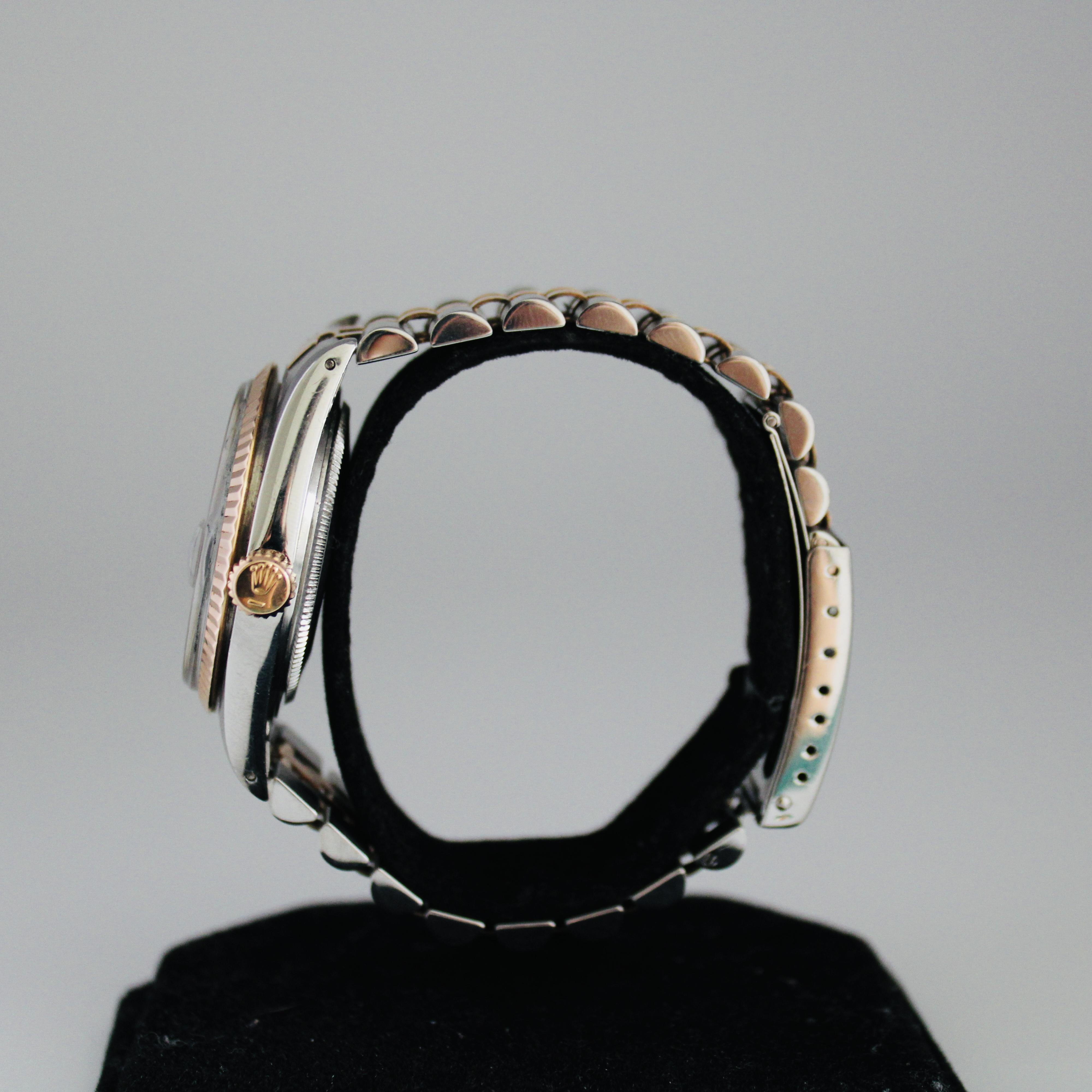 Rolex Datejust ref 1601 Steel & Pink Gold - Image 3 of 8