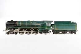Biaggi 2-C-1 Dampflok, S 1, elektr., 3-Leiter, Metall, grün/schwarz, mit Tender und 2 el. bel. Stirn