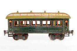 Märklin Personenwagen 1841, S 1, uralt, handlackiert, mit Speiseeinrichtung und 4 AT, 1 Türgriff feh