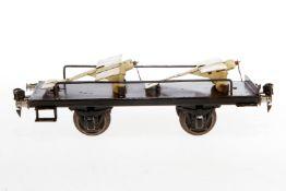 Märklin Plattformwagen, S 1, handlackiert, mit 2 Tauben, L 24, Z 4