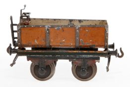 Bing Zisternenwagen, S 1, uralt, handlackiert, Lackschäden und gealterter Lack, L 15, Z 3