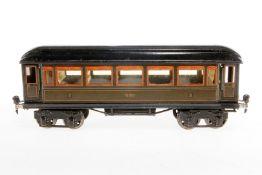 Märklin Personenwagen 1888, S 1, Chromlithographie, mit Inneneinrichtung, 4 AT und Gussrädern, nicht