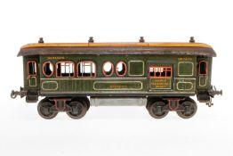 Bing Express-Gepäckwagen, S 1, uralt, handlackiert, mit Diensteinrichtung, 4 AT und 2 ST, 2 Türgriff