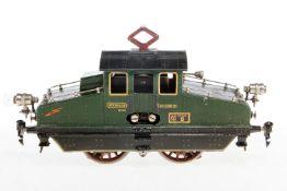 Märklin E-Lok V 66/13021, S 1, elektr., grün, mit je 1 el. bel. Stirnlampe, Lackschäden teilweise au