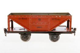 Märklin Selbstentladewagen 1995, S 1, handlackiert, Lackschäden teilweise ausgebessert, gealterter L