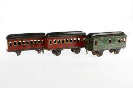 3 Märklin Wagen 1884/1885, S 1, Chromlithographie, Z 4