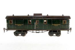 Märklin Gepäckwagen 1934, S 1, handlackiert, mit 2 AT, 4 ST und Gussrädern, teilweise rest., gealter