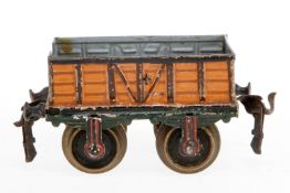 Märklin offener Güterwagen, S 1, uralt, handlackiert, nicht vollständig, Radsätze ergänzt, L 13, Z 4