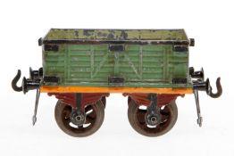 Bing Rungenwagen, S 1, uralt, handlackiert, Rungen fehlen, Lackschäden teilweise ausgebessert, gealt