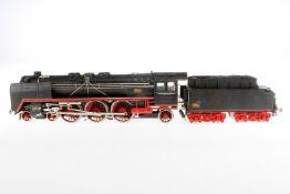 Biaggi 2-C-1 Dampflok, S 1, elektr., 3-Leiter, Metall, schwarz, mit Tender und 2 el. bel. Stirnlampe